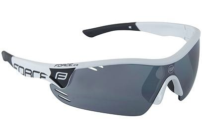 Brýle Force RACE PRO bílé + černá laser skla - 909393