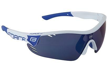 Brýle Force RACE PRO bílé + modrá laser skla - 909391