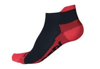 Ponožky Sensor Coolmax Invisible, černá/červená