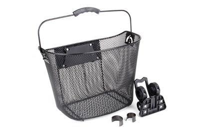 Košík na řídítka Force KLICK černý, MAX 5kg, na řidítka 25,4mm