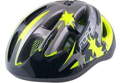 Dětská helma Force LARK, černá-fluo