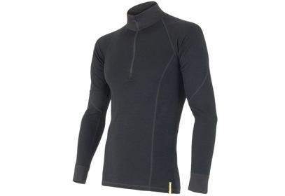 Pánské triko Sensor Double Face Merino Wool, černá - ROLÁK