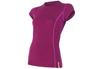 Dámské triko Sensor Merino Wool Active, krátký rukáv - lila
