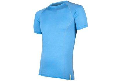Pánské triko Sensor Merino Wool Active, krátký rukáv - modrá