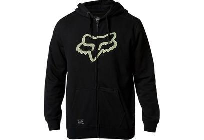 Mikina Fox Destrakt Zip Fleece - Black/Green LFS20S
