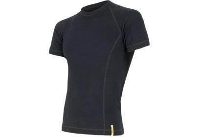 Pánské triko Sensor Double Face Merino Wool, krátký rukáv, černá