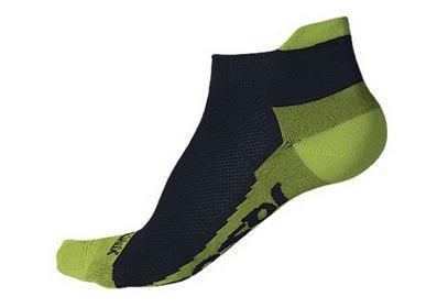 Ponožky Sensor Coolmax Invisible, černá/limetka