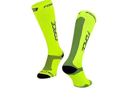 Ponožky Force ATHLETIC PRO KOMPRES - fluo-černá