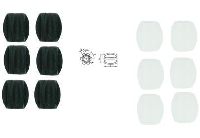 Ochrana rámu na bowden Jagwire Mini 5,5mm CHA09(5/7), 6ks