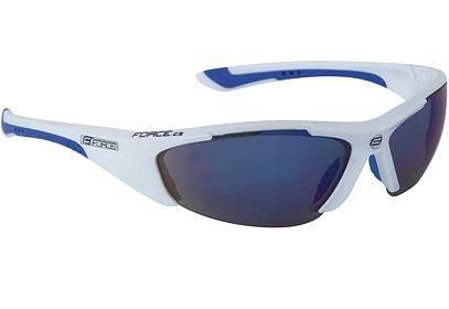 Brýle Force LADY bílé + modrá laser skla - 90900
