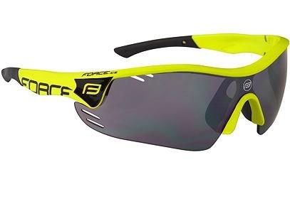 Brýle Force RACE PRO fluo + černá laser skla - 909394