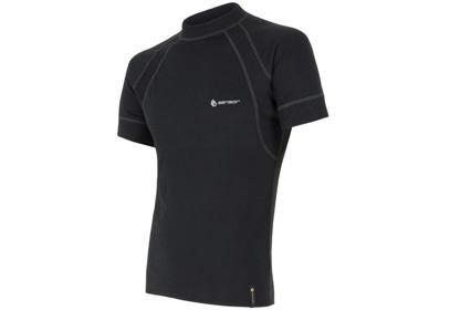 Pánské triko Sensor Double Face EVO, krátký rukáv, černá