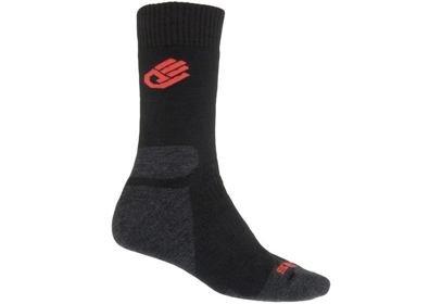 Ponožky Sensor EXPEDITION Merino Wool, černá/červená