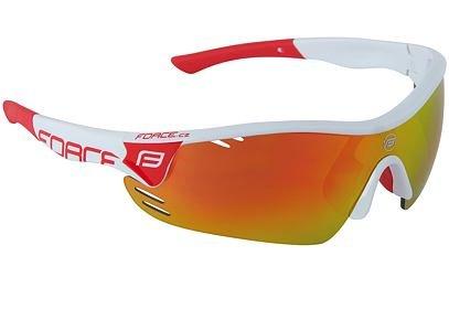 Brýle Force RACE PRO bílé + červená skla - 909392