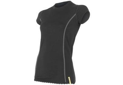 Dámské triko Sensor Merino Wool Active, krátký rukáv - černá