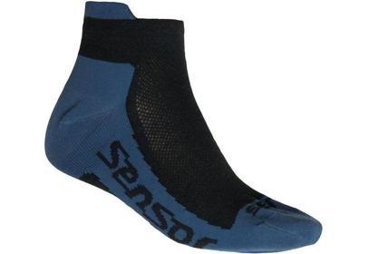 Ponožky Sensor Coolmax Invisible, černá/modrá