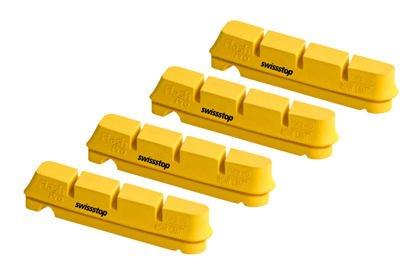 Náhradní špalky SwissStop Flash Pro, žlutá