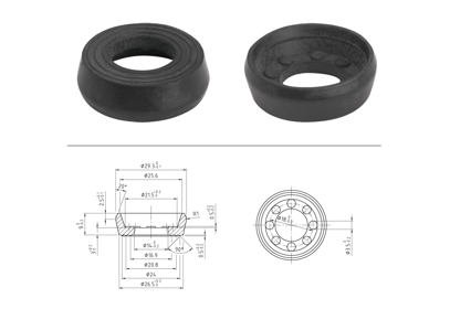 Černá gumička do těla RENNKOMPRESSOR, AIRKOMPRESSOR WESE a DIAGO, 30 mm