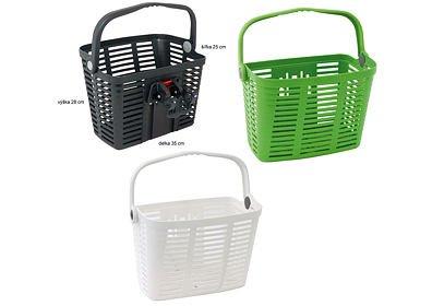 Košík na řídítka Plast, nosnost 5 kg