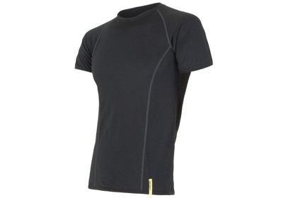 Pánské triko Sensor Merino Wool Active, krátký rukáv - černá