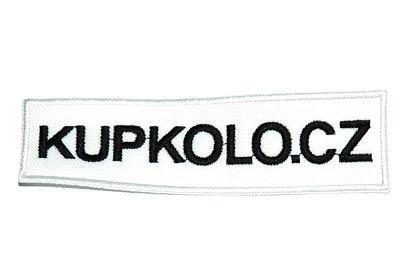 Nášivka Kupkolo.cz rozměr 110x30mm