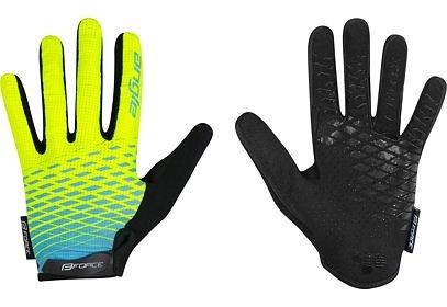 Dětské rukavice Force KID MTB Angle letní fluo-modrá