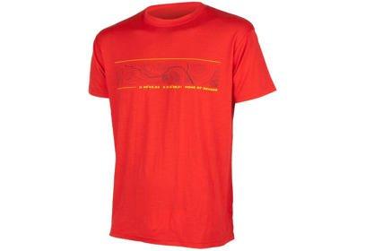 Pánské triko Sensor Merino Wool PT GPS, krátký rukáv - červená