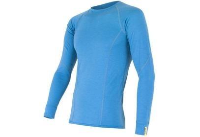 Pánské triko Sensor Merino Wool Active, dlouhý rukáv - modrá