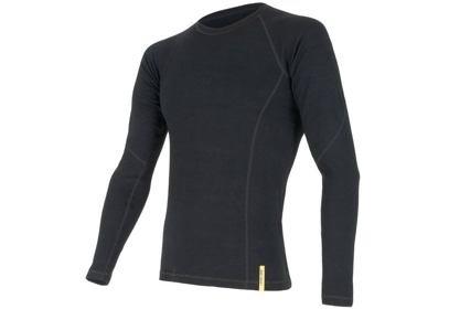 Pánské triko Sensor Double Face Merino Wool, dlouhý rukáv, černá