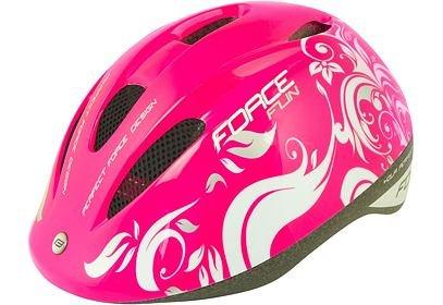 Dětská helma Force Fun FLOWERS - růžová
