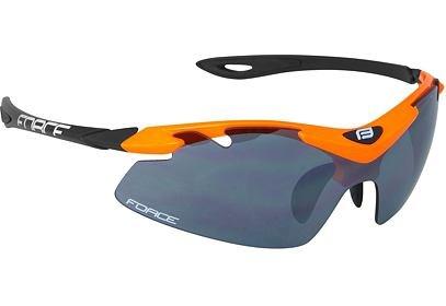 Brýle FORCE DUKE oranžovo-černé, černá laser skla - 91022