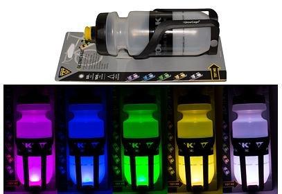 Svítící košík Topeak iGlowCage + průhledná láhev