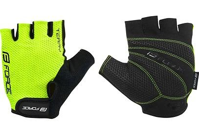 Rukavice Force TERRY, fluo