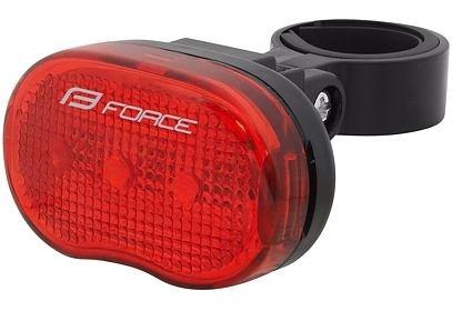 Světlo blikací zadní FORCE TRI 3 LED + baterie - 45386