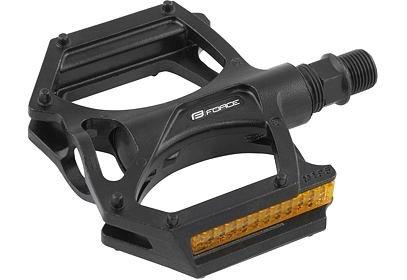 Pedály BMX Force Alu + odrazky černé