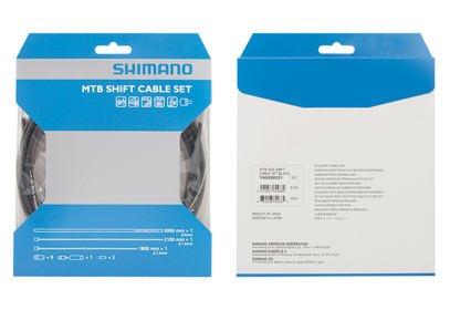 Řadící set Shimano MTB, bowdeny + lanka