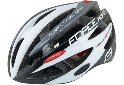helma Force ROAD, černo bílo šedá XS 48-54cm